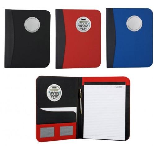 Папка для документов с блокнотом и поворачивающимся калькулятором