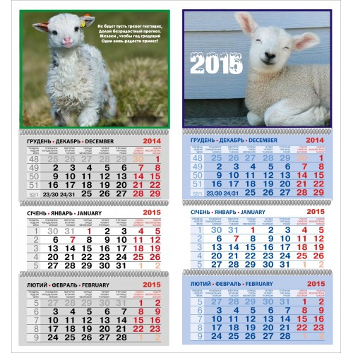 Календарь ЭКОНОМ со стандартной календарной сеткой
