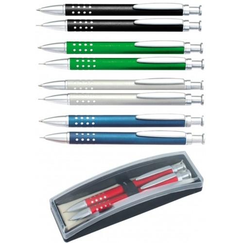 Набор: ручка шариковая + карандаш в футляре