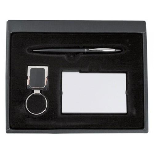 Набор: ручка, визитница и брелок