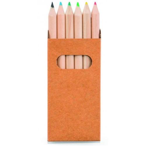 Набор 91750D из 6 цветных карандашей в упаковке