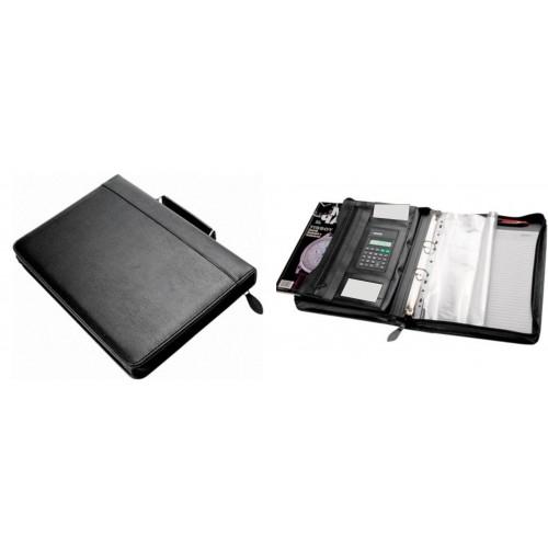Папка для документов на молнии с блокнотом и калькулятором