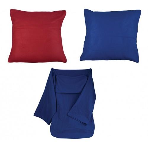 Плед флисовый с рукавами. Складывается в подушку.