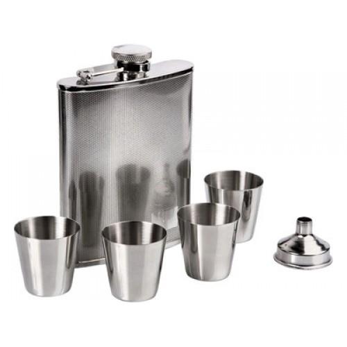 Набор: фляга 200мл, воронка и 4 стаканчика