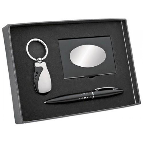 Набор: ручка, брелок и визитница
