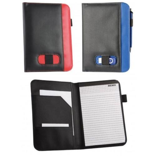 Папка для документов с блокнотом и держателем для ручки и флеш-карты