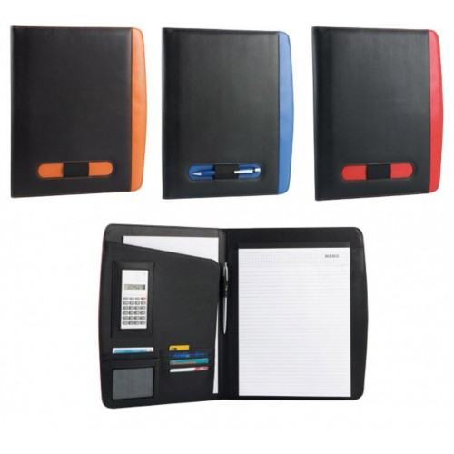 Папка для документов с блокнотом, калькулятором и держателем для ручки