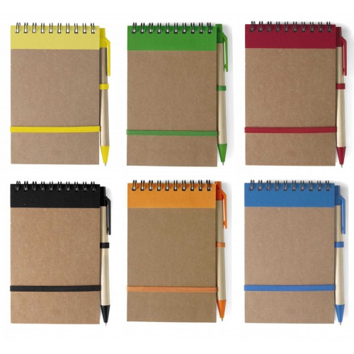 Блокнот E955410 с ручкой, формат А6